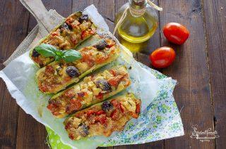 zucchine ripiene alla mediterranea ricetta secondo piatto vegetariano