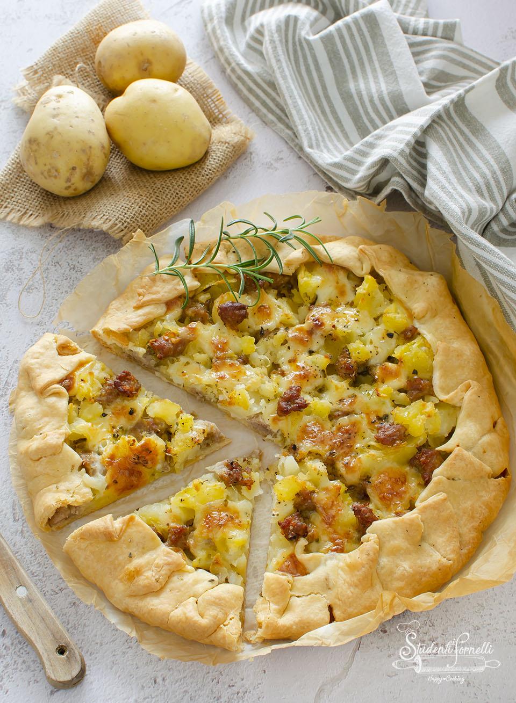 torta rustica salsiccia e patate ricetta torta salata pasta sfoglia