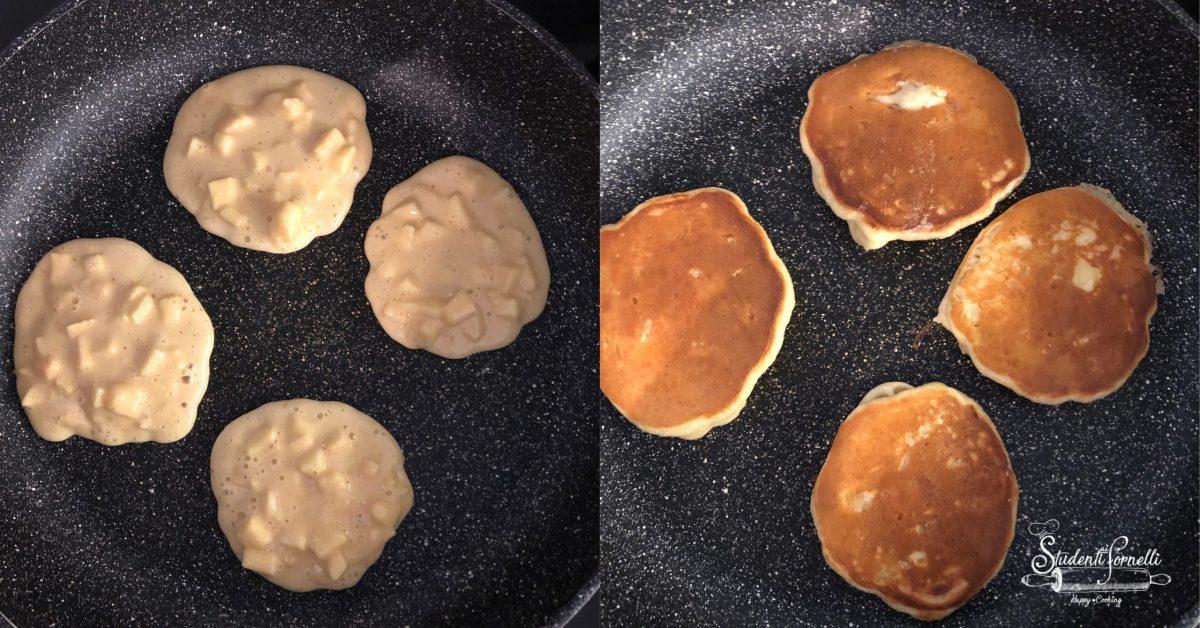 pancake alle mele passo passo