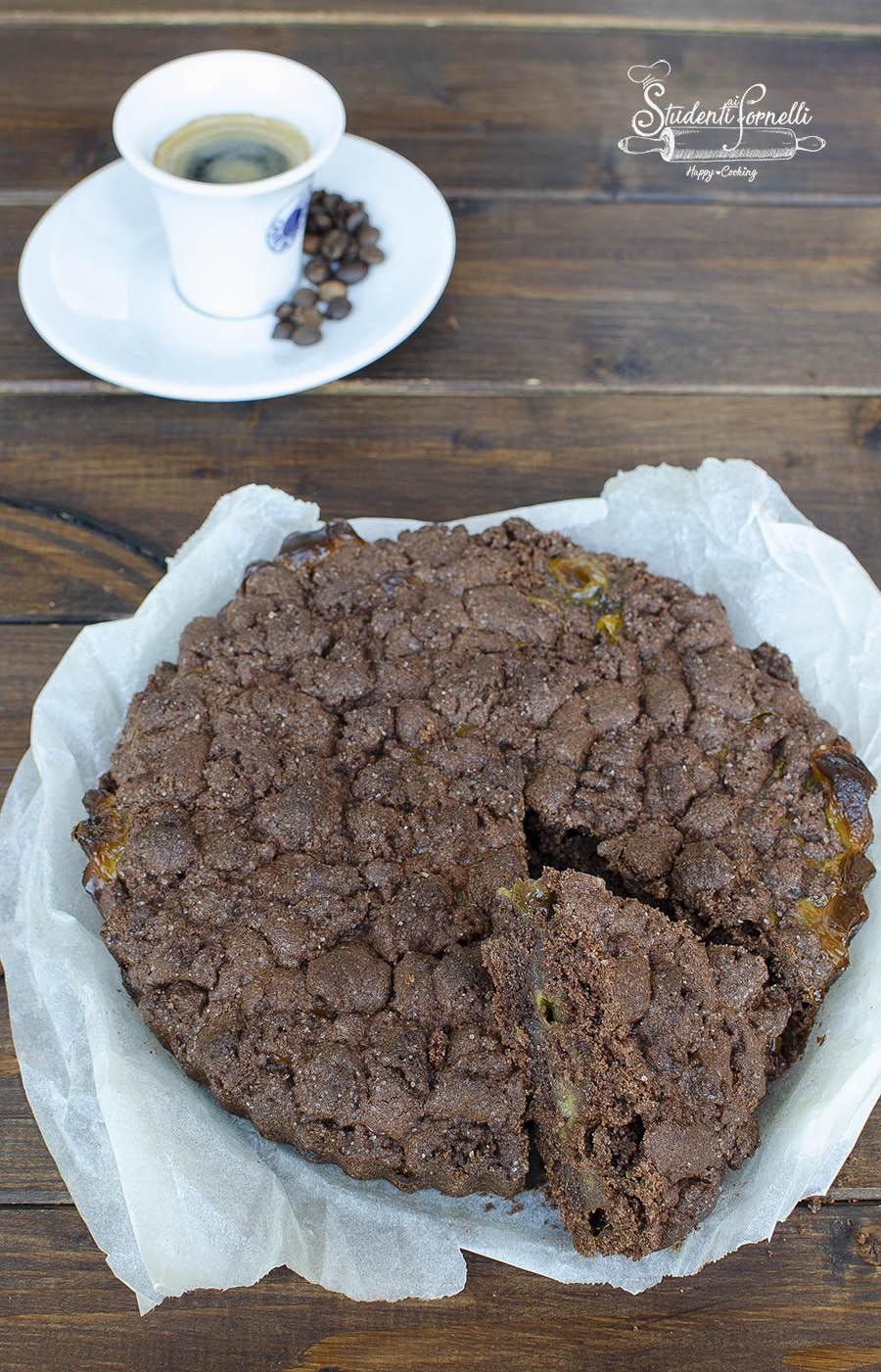 sbriciolata senza glutine cioccolato e crema al caffe