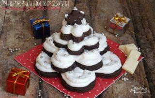 2020 alberelli di biscotti al cacao e crema al cioccolato ricetta