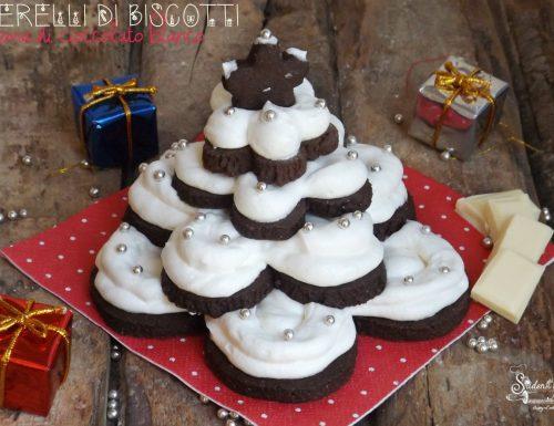 ALBERELLI DI BISCOTTI e CREMA AL Cioccolato Bianco