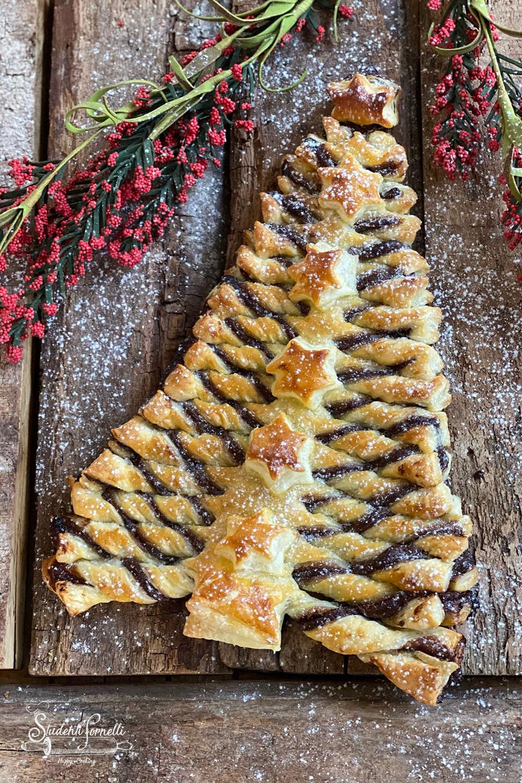 albero di sfoglia alla nutella ricetta dolce natale