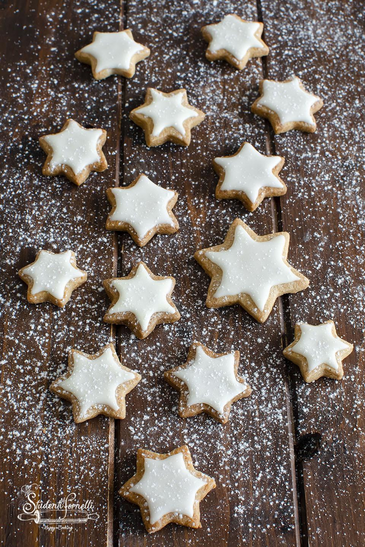 Biscotti Di Natale Zimtsterne.Zimtsterne O Biscotti Stella Alla Cannella Ricetta Biscotti Di Natale
