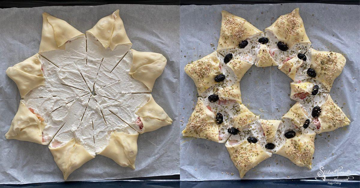 stella di pasta sfoglia ricetta antipasto natale 1