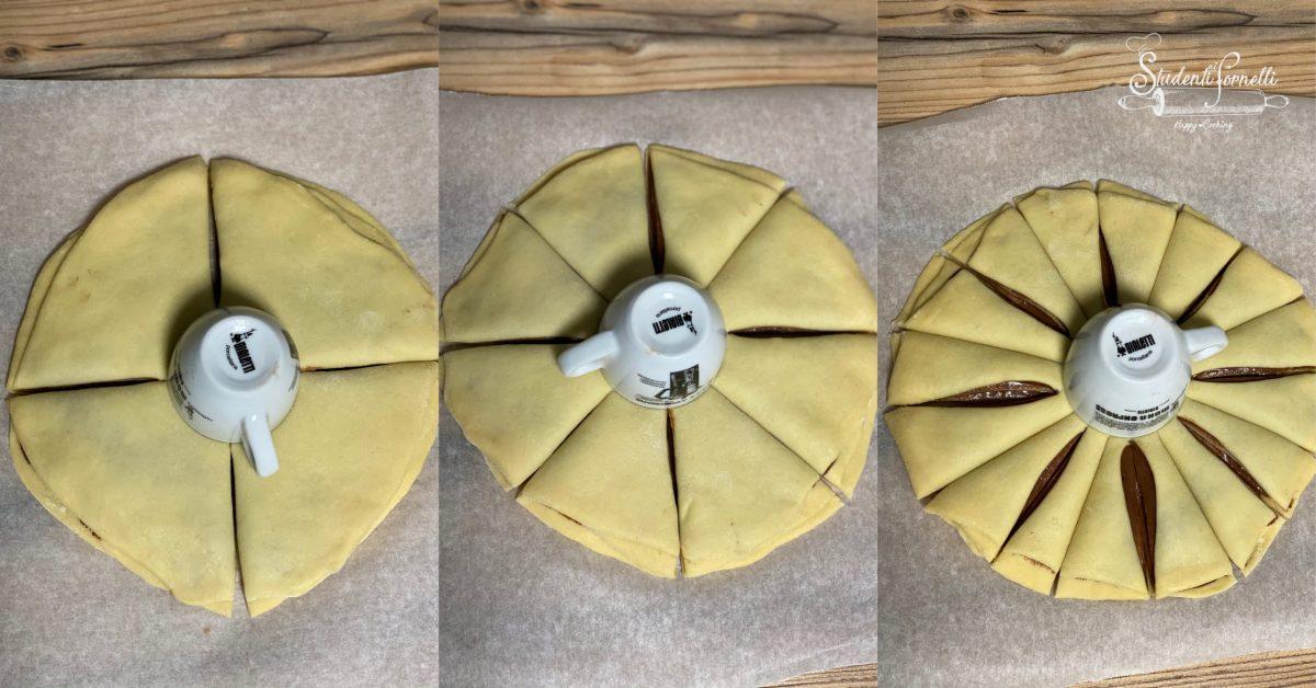 fiore di pan brioche alla nutella passo passo 4