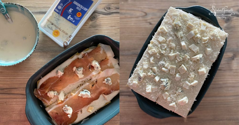 lasagne speck e gorgonzola