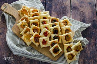 ricetta 2 pizzette di pasta sfoglia veloci millegusti per aperitivi buffet