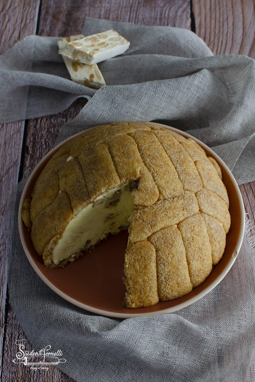 ricetta zuccotto al torrone e crema ricetta dolce natale