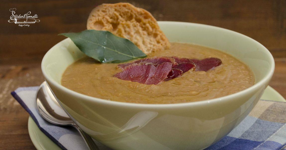 2020 vellutata di lenticchie crema zuppa di legumi ricetta facile