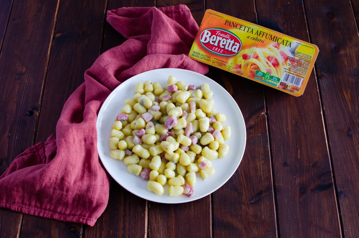 gnocchi gorgonzola e pancetta ok