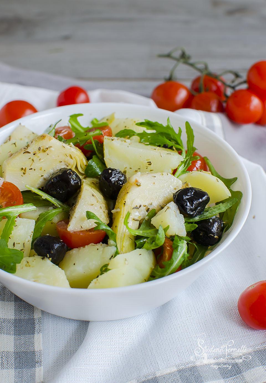 insalata di patate e carciofini ricetta leggera