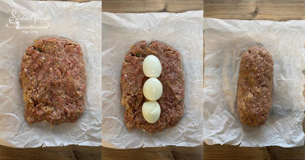 polpettone con uova sode ripieno