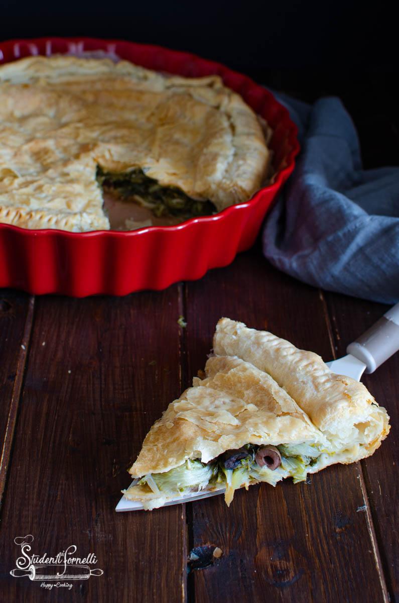 torta salata scarole e olive nere ricetta-2