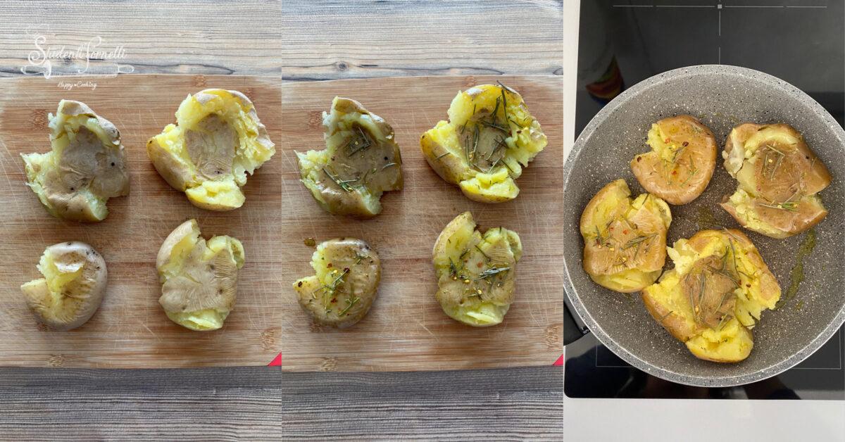 patate schiacciate in padella smashed potatoes 1