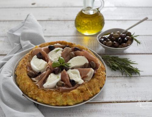 CROSTATA DI PATATE con Mozzarella e Prosciutto