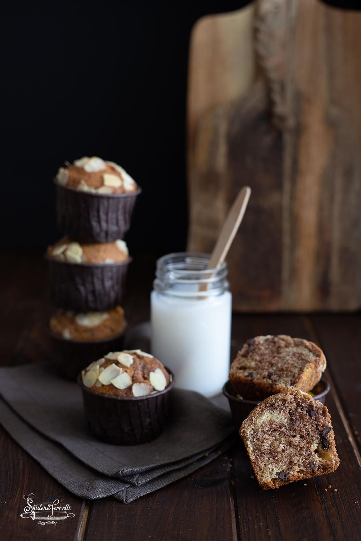 muffin variegati panna e cacao ricetta