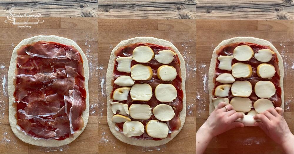 rotolo di pizza farcito speck e scamorza 1
