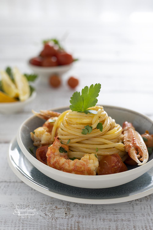 spaghetti con scampi ricetta pasta primo piatto