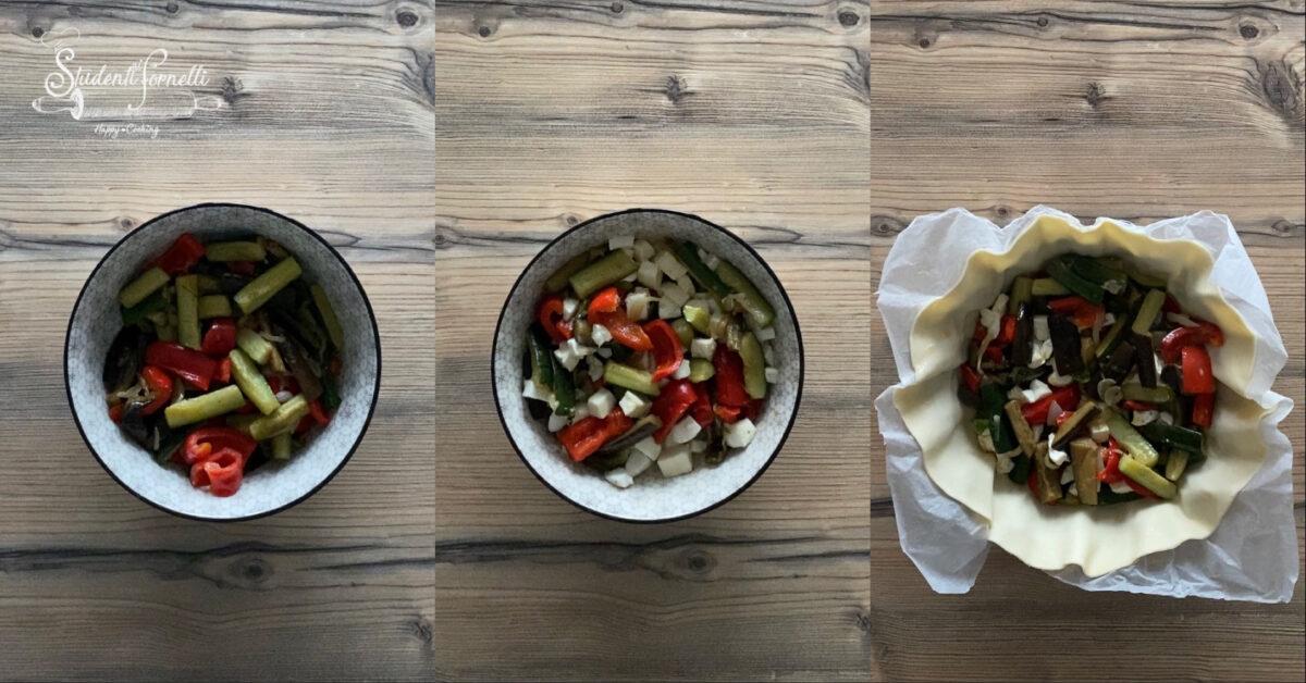 torta salata con verdure e mozzarella ricetta 3