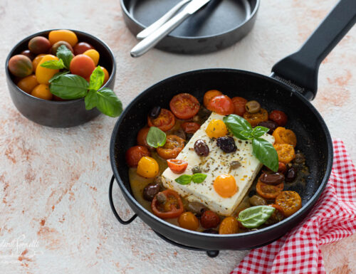 FETA IN PADELLA con Pomodorini e Olive