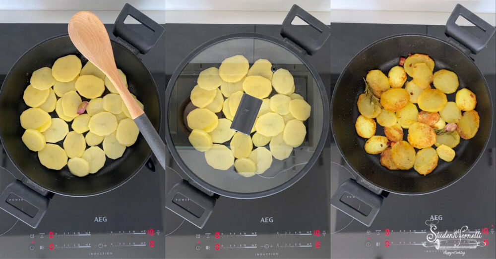 patate aglio e peperoncino in padella 1
