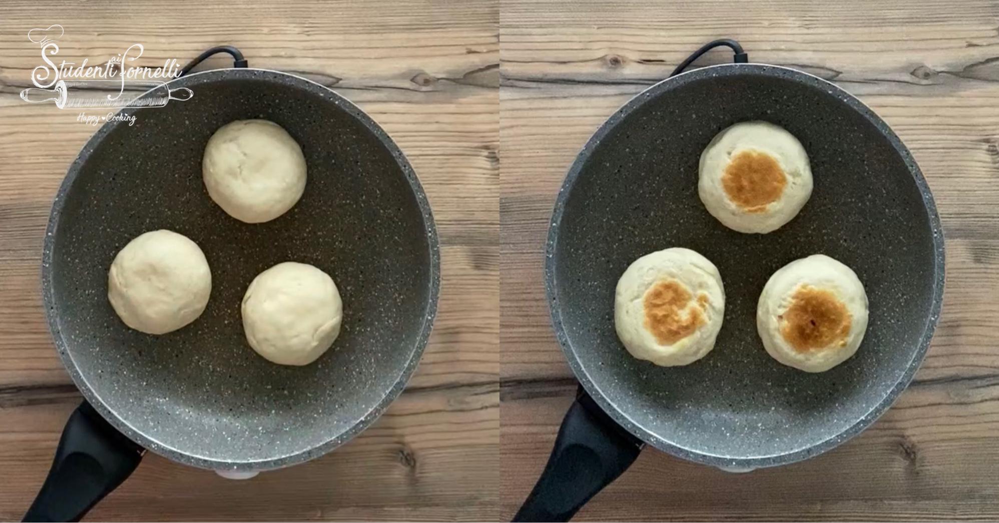 focaccine al parmigiano in padella ricetta 2