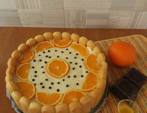 Charlotte all'arancia e cioccolato