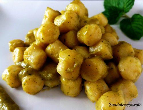 Gnocchi di Patate con crema di zucchine