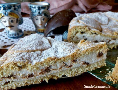 Crostata morbida di ricotta e cioccolato con lievito fatto in casa