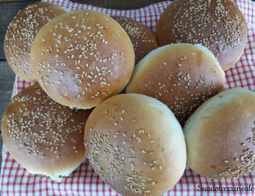 Panini per hamburger fatti in casa – Bimby e senza