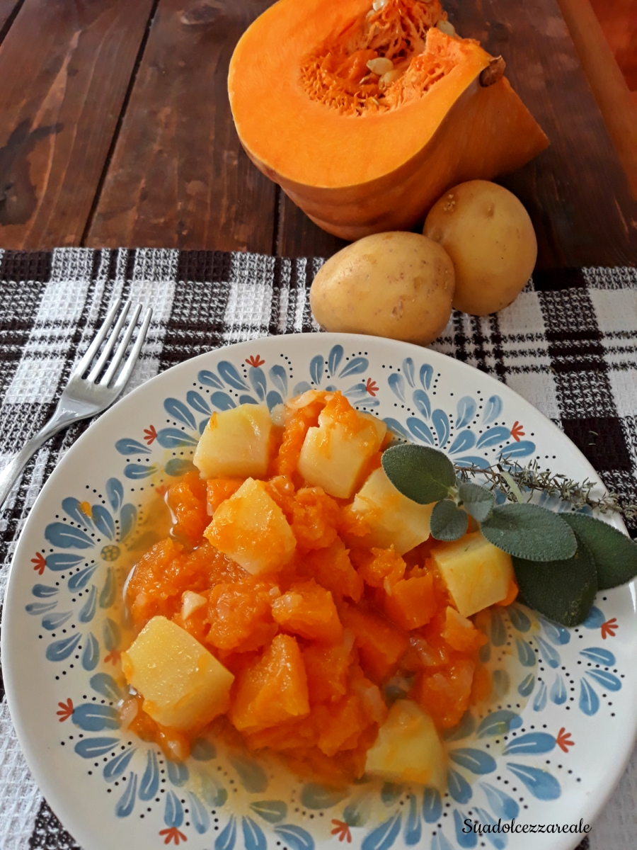 zucca e patate in umido