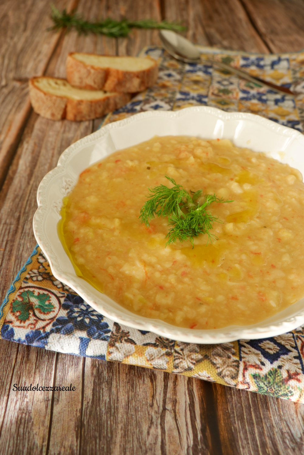 come fare zuppa di fave secche decorticate