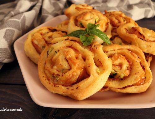 Girelle al prosciutto zucchine e formaggio