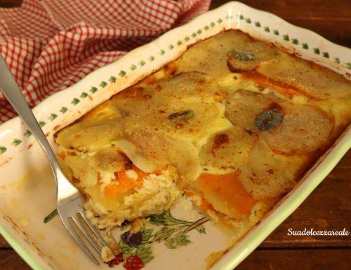 Tortino di zucca e patate al forno