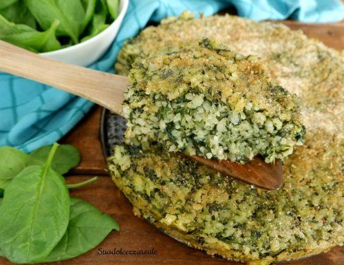 Torta di riso agli spinaci ricetta facile vegetariana