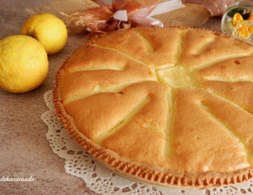 Torta al farro con crema al limone e pasta margherita