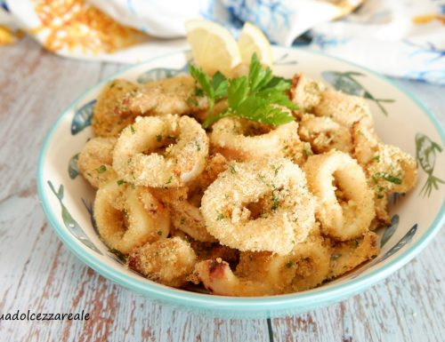 Anelli di calamari al forno morbidi  Ricetta veloce