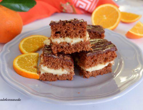 Torta cioccolato con crema all'arancia