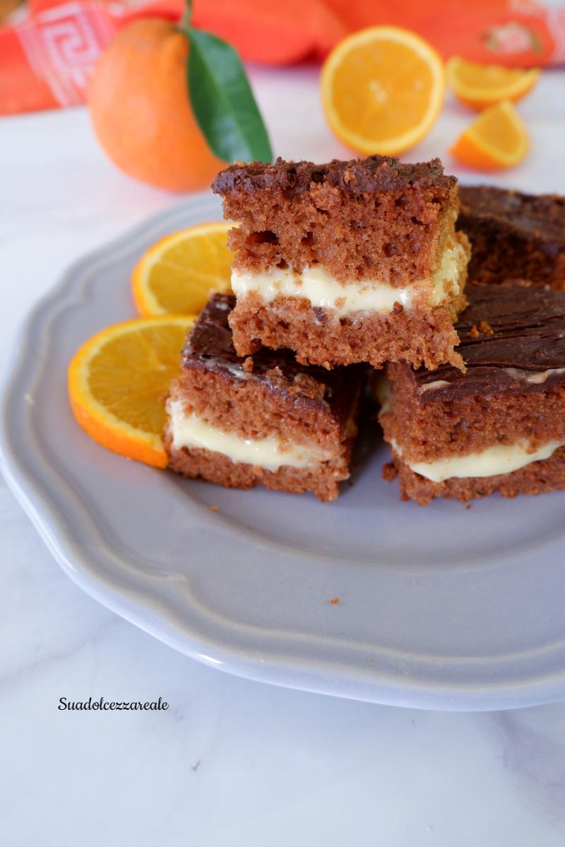 torta cioccolato e crema all'arancia ricetta