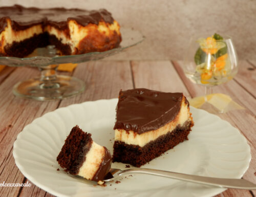 Torta Brownie cheesecake facile