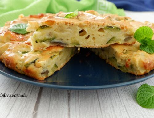 Torta salata con albumi avanzati e verdure