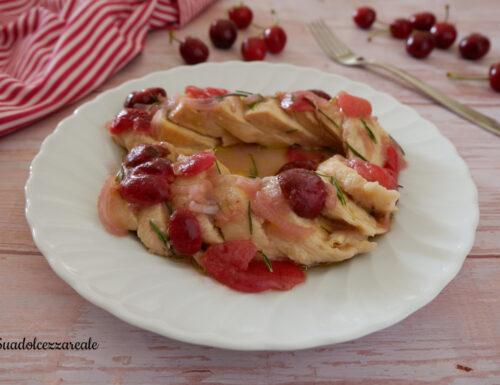 Petto di pollo alle ciliegie Ricetta secondo con frutta