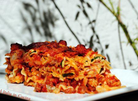 Parmigiana di Zucchine con Mafalde
