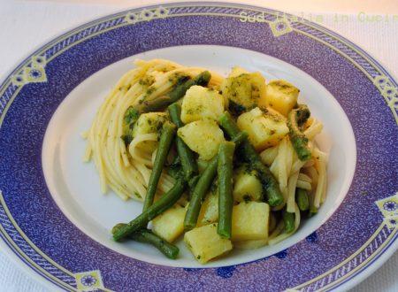 Pasta con il Pesto alla Genovese