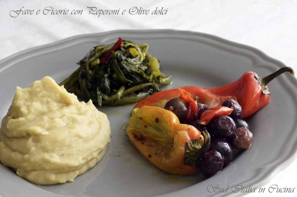 Fave Cicorie Peperoni e Olive