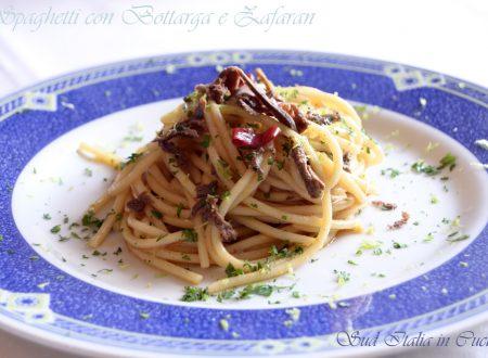Spaghetti con Bottarga e Pepone