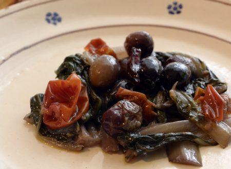 Bietole piccanti con Olive e Pomodori