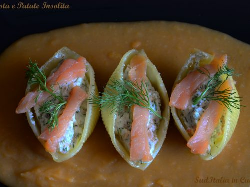 Pasta e Patate al Salmone e Ricotta
