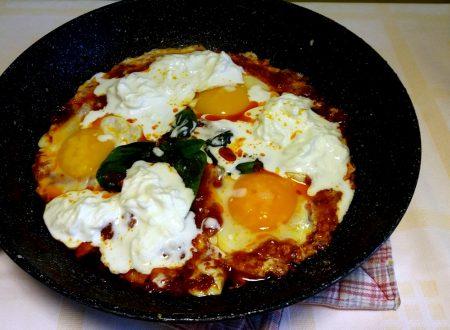 Uova in Purgatorio con Burrata fatta in casa